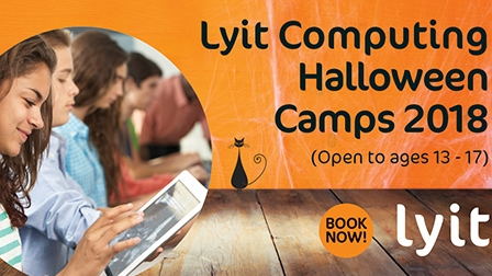 LYIT Computing Department delighted to run 3 day Halloween camp