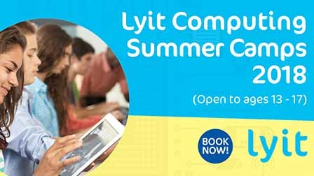Computing summer camps return to LYIT for 3 weeks this June