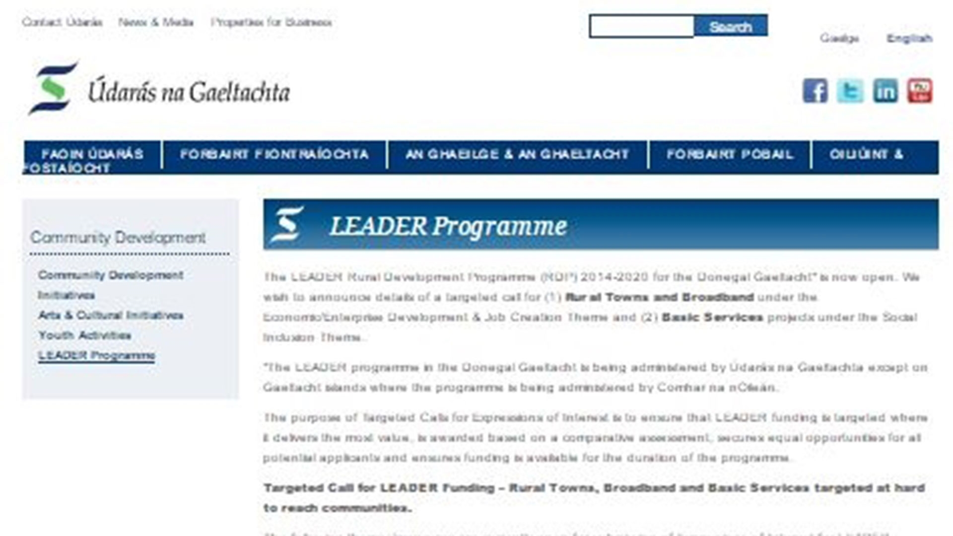 Hurry up! LEADER Programme will close soon!